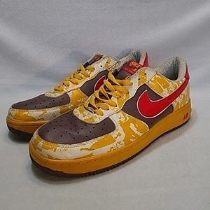Nike Af 1 Af '82 Brown/ Yellow/ White Camo sz13